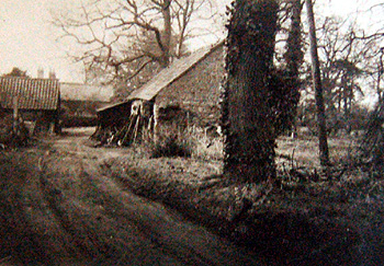 The smithy around 1900 from the Biddenham Women's Institute scrapbook [X535/6]